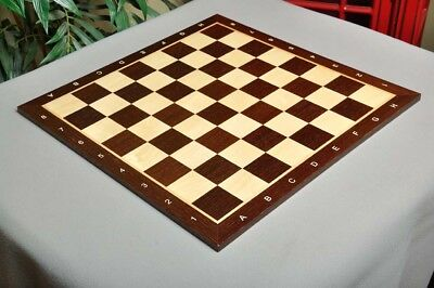 """African Palisander & Maple Wooden Tournament Chess Board - 1.75"""" With Notation"""
