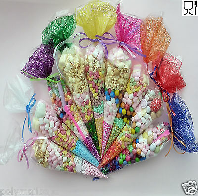 1000* party bags sweet cones sweet bags cellophane bags sweet gift bags kids bag