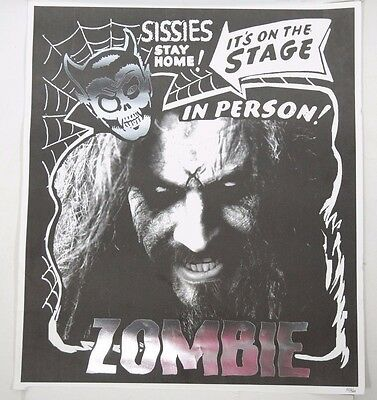 """Rare Rob Zombie Sissies Stay Home Silver Print Poster 20"""" x 23"""""""