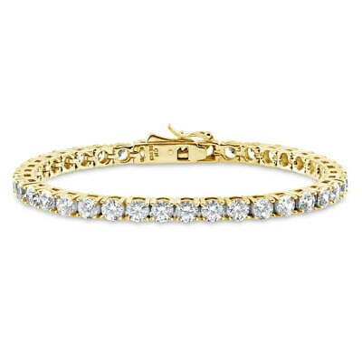 BERRICLE Gold Over Sterling Silver Tennis Bracelet Made with Swarovski Zirconia