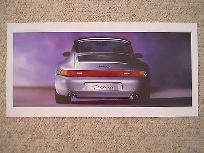 1996 Porsche Carrera Coupe Showroom Advertising Poster RARE!! Awesome L@@K
