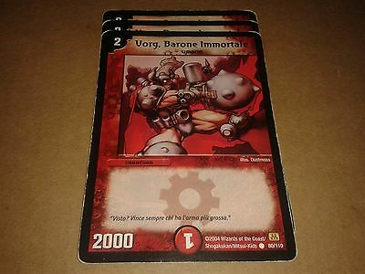 Duel Manster Trading Card Game Vorg, Baraone Immortale 80/110 Italiano