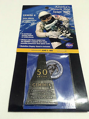 NASA Gemini 4 Medallion Token Contains Flown In Space Metal Limited Edition