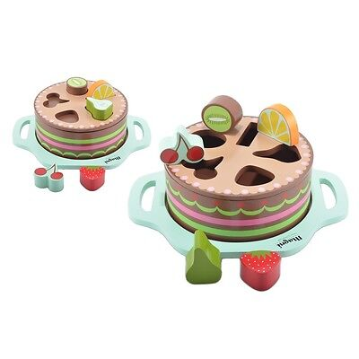 Puzzle - Wooden Cake Shape Sorter & Puzzle Toy For Baby