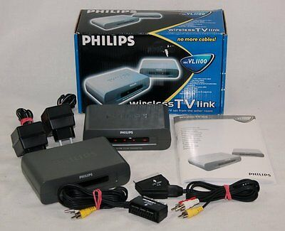 Philips Wireless TV Link - SBC VL1100 - inkl. SCART & FB Kabelsatz - in OVP