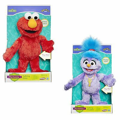 Sesame Street TALKING Elmo or TALKING Phoebe Plush Soft Toy Furchester Hotel New