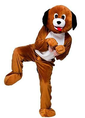 PLAYFUL PUPPY DOG ADULT MASCOT FANCY DRESS COSTUME Animal Hound Pet Outfit 8562