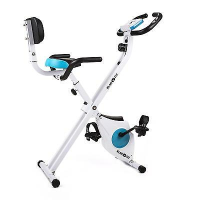 Pro Bicycle Cardio Fitness Trainer By Klarfit Backrest Side Handles Folding Bike