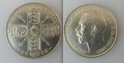 Collectable 1918 Silver One Florin Coin Of King George V