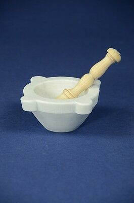 "Mortaio marmo Carrara ""Genovese"" 10 cm pestello legno.Marble mortar wood pestle"