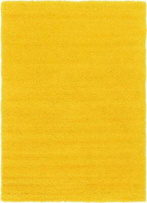 Yellow Shaggy Rug Runner Soft Thick 50 mm High Pile Mat Any Room Bright