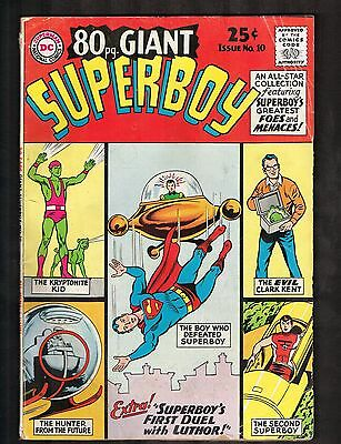 """80-Page Giant #10 ~ Superboy / """"First Duel With Luthor """" ~ 1965 (5.5) WH"""