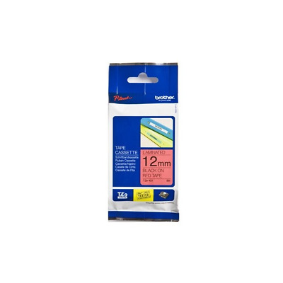 TZE431 Brother TZE-431 LAMINATED TAPE 12MM 8M BLACK ON RED - TZE431  (Consumable