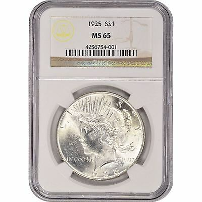 1922-1935 $1 Silver Peace Dollar NGC MS65 (Random Year)