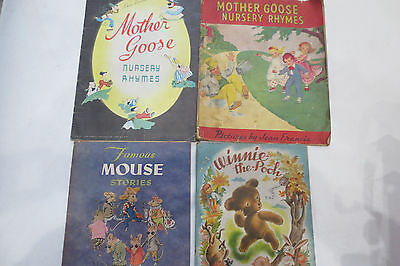 RARE vintage childrens books Winne the Pooh  Famous Mouse Stories Mother Goose