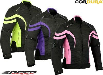 Ladies Speed Hawk Womens Ce Motorbike / Motorcycle Short Length Textile Jacket