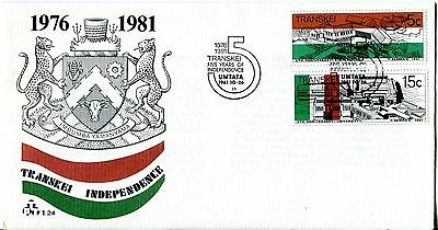 Transkei 1981 5th Anniv of Independence FDC