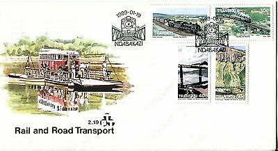 Transkei 1989 Railway and Road Transport FDC