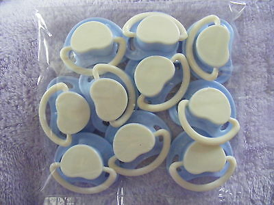 """10 x  Heart Shaped Dummy BLUE  """"D.I.Y  PACK"""""""