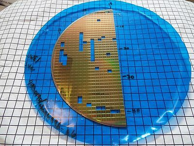 DICED SILICON PARTIAL WAFER   200mm od - Lots CXVIII-N-3