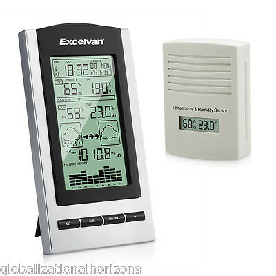 Wireless Sensor LCD Weather Station Temperature BAROMETER Humidity In/Outdoor UK