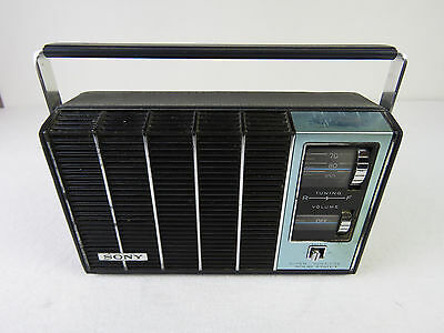 01 - VINTAGE 60s SONY TR-6400 LEATHER CASE MADE IN JAPAN TRANSISTOR RADIO AM