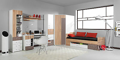 bett mit matratze kommode schreibtisch jugendzimmer. Black Bedroom Furniture Sets. Home Design Ideas