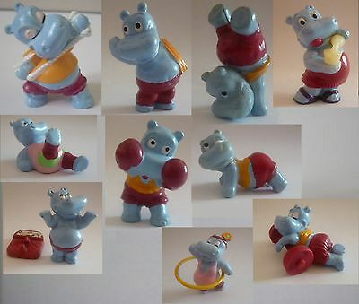 Kinder Ferrero Surprise Figure E Cartine Serie Happy Hippo Happypotami Fitness