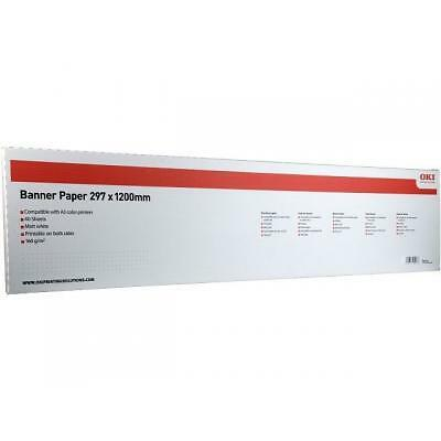 OKI Banner A3 paper 09004581 297mm x 1200mm. 40 160gsm
