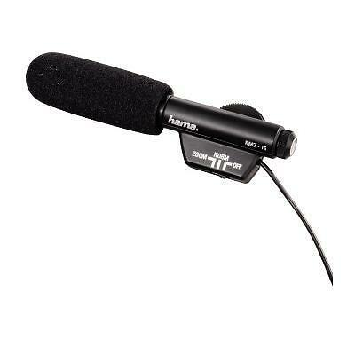 Hama RMZ-16 Zoom Directional Microphone 00046116 For video recordings with camco
