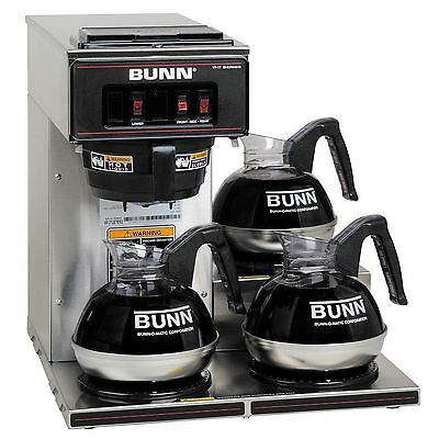 Bunn VP17-3 Commercial Pourover Brewer Coffee Pot with 3 warmers