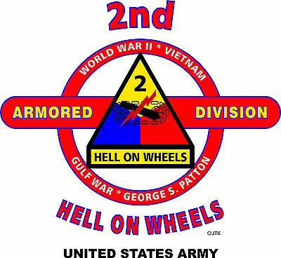 2Nd Armored Division & Operation Desert Storm Veteran  2-Sided Shirt