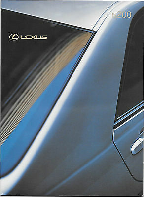 Lexus Is200S, Is200Se And Is300 Sport Brochure October 2000 For 2001 Model Year