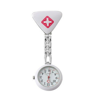 Clip On Watch Nurse Midwives Quality Quartz Stainless Steel