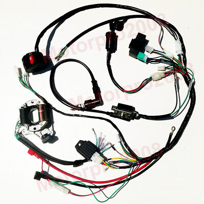 50cc 70cc 110cc 125cc Full Electrics Wiring Harness Cdi Atvremote