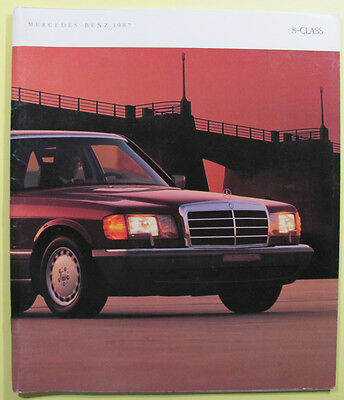 Mercedes--Benz  1987 - S class brochure - 60 pages 10x12 inches