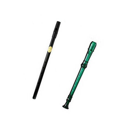 My First Recorder/Penny Whistle PK -BPA FREE Green Recorder/Black Penny Whistle