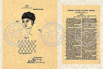 1921 PATENT for the HAIR NET - DAVID WOLF - NY #874