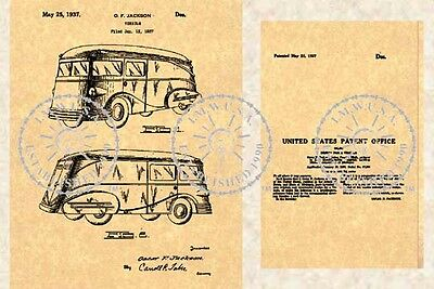 30s STREAMLINED TRUCK Patent Luce Manufacturing #500