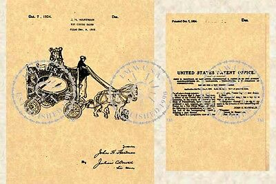 US Patent - Hubley CIRCUS WAGON TOY - 1922 #770