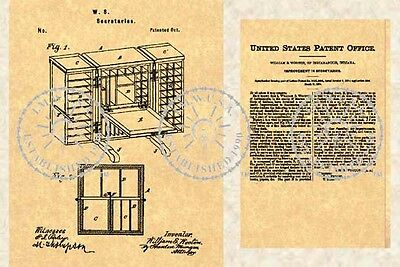 US Patent for a WOOTON DESK Secretary #029.5