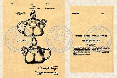 US Patent for the SHAWNEE JACK Teapot #373