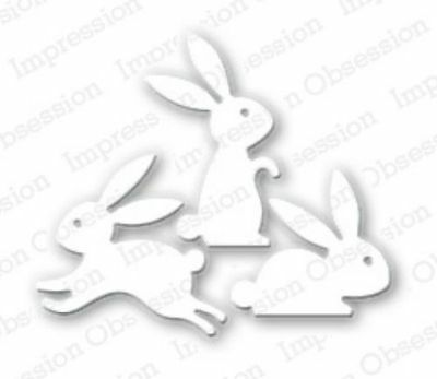 EASTER BUNNIES DIE-Impression Obsession (043G)suitable for most die cutters