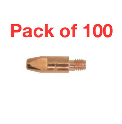 100 Pack 1mm Steel Contact Tips M6 Bzl Suit SB24,25,36 (PCT0009-10)