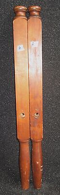 "PAIR OF ANTIQUE PERIOD SOLID WOOD BED POSTS 35 1/2"" high   A"