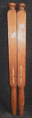 "PAIR OF ANTIQUE PERIOD SOLID WOOD BED POSTS 35 1/2"" high   B"
