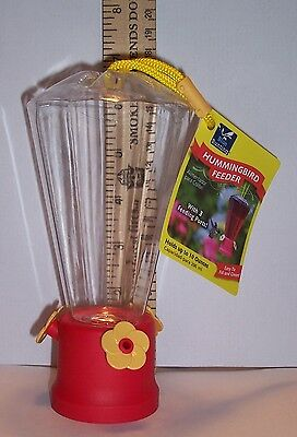 """Hummingbird Feeder with 3 Feeding Ports - Holds Up To 10 Ounces - @ 6 1/2"""" Tall"""