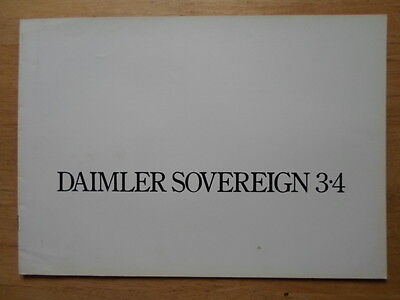 DAIMLER SOVEREIGN 3.4 Saloon orig 1975 UK Mkt Sales Brochure