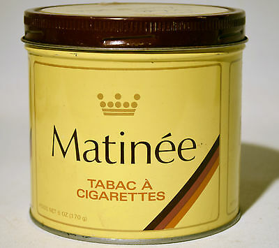 Vintage Tobacco Can, Tin Matinee Imperial Tobacco