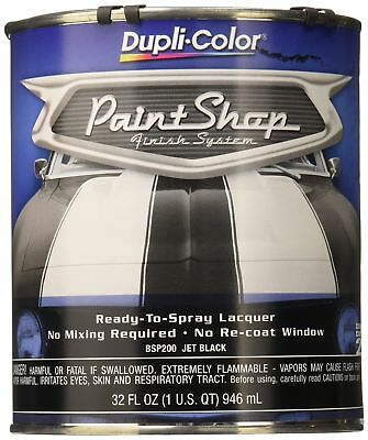 Dupli-Color Jet Black Paint Shop Finish System Ready To Spray Lacquer, New